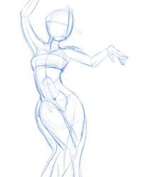 Rough Pose  by LisaGunnIllustration
