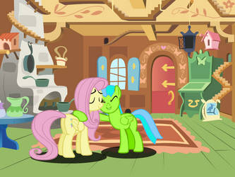 Lime Shock and Fluttershy by KevinTan137