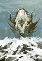 Snow mountain of big yak by ZERG118