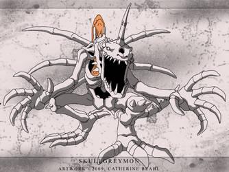 Skullgreymon by Lady-KrimZen