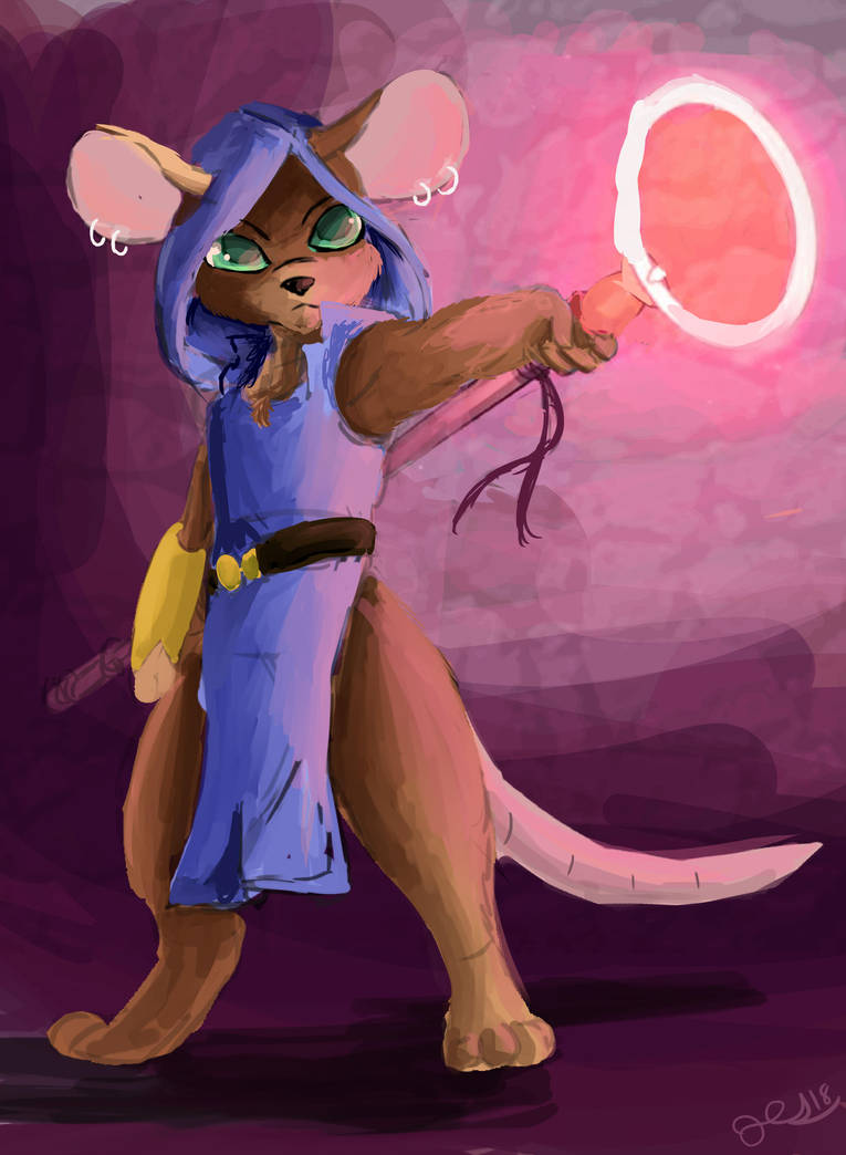 Mousefolk Mage by OwlVortex