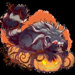 Spooky Raccoon by Ulfrheim