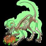 Skeletal Cat by Ulfrheim
