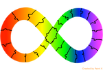 Autism awareness/acceptance infinity ribbon by HDLMatchette