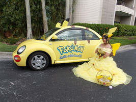 Pikachu Princess and her Ride by pikabellechu