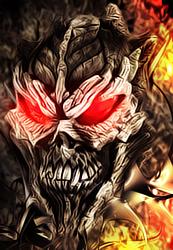 flaming demon skull by drachtillikus on deviantart
