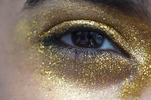Gold Glitter Eye Stock12 by Desert-Winds