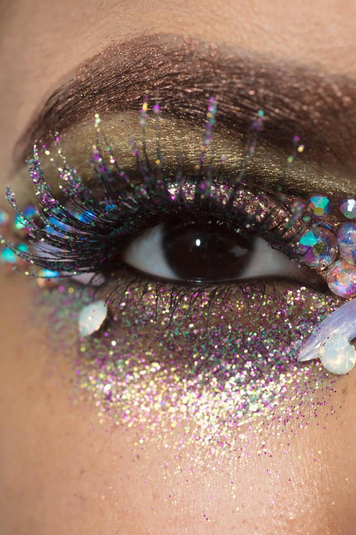 Glitter Crystals Eye Stock7 by Desert-Winds