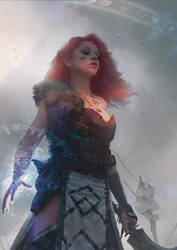 warrior girl by labolab