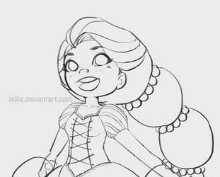 Rapunzel Sketch by Jellie
