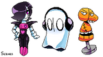 Undertale-  Ghost Cousins Pixel Art by Nana-Naexii