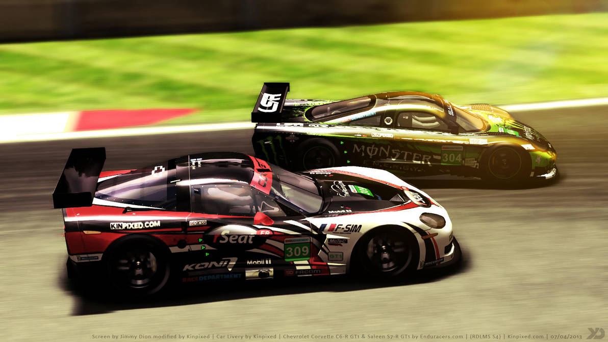 rSeat C6-R and Monster S7-R in Silverstone by Kinpixed