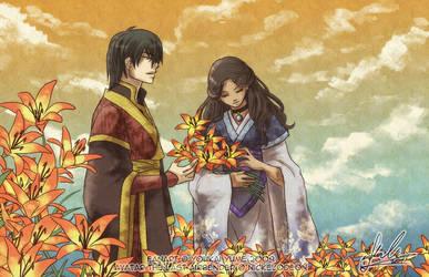Zutara - Fire Lilies by YoukaiYume