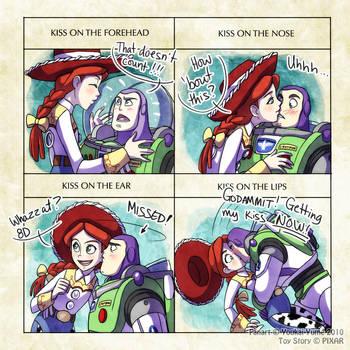 Buzz+Jessie: Kiss Meme by YoukaiYume