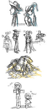 Toy Story Livestream Sketches4 by YoukaiYume