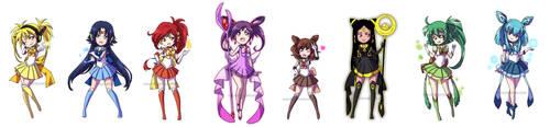 PKMN Senshi: Eeveelution by YoukaiYume