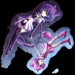 PKMN Senshi: Mew Duo by YoukaiYume