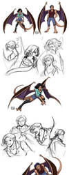 Gargoyles Fanbabies: Kitty and Mags by YoukaiYume