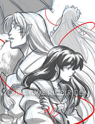 Raindrops 08 Cover Sketch by YoukaiYume
