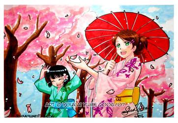 Raining Petals by YoukaiYume