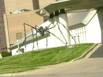 giant metal spider by firepiro