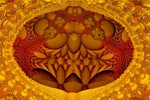 Golden Tweaking cave by IAmThatStrange