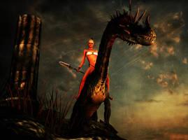 Tharyn: Dragon rider by ShaneGallagher