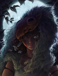 eye of the night - mononoke fan art by AutumnGoose