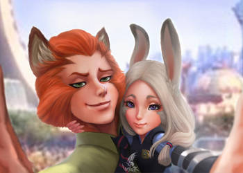 Nick Wilde X Judy Hopps by vinrylgrave
