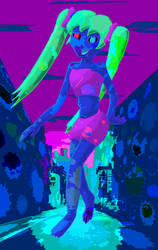 Neon Matilda by saximaphone