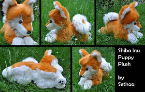 Shiba Inu Puppy Plush by Sethaa