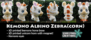 Zebracorn Kemono Fursuit Head by Sethaa