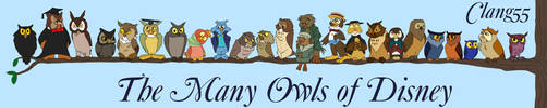 The Many Owls of Disney (Updated 2018) by Clang55