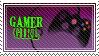 Gamer Girl Stamp by RaptureCyner