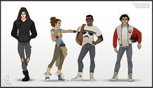 The Force Awakens Highschool AU by verauko
