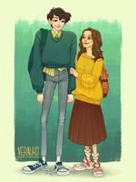 Highschool Sweethearts by verauko