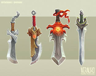 Fantasy Swords by verauko