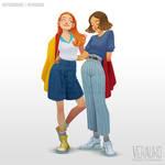 Eleven and Max by verauko