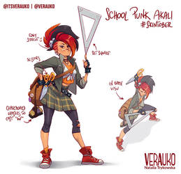 School Punk Akali by verauko