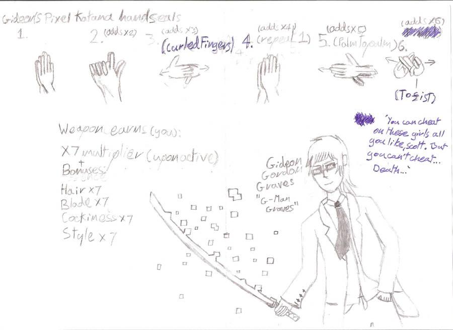 sp pixel katana hand seals by zodiarkmaster on deviantart