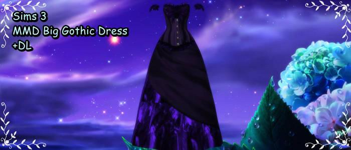 Sims 3 Big Gothic Dress MMD DL by xXMMDStoreXx