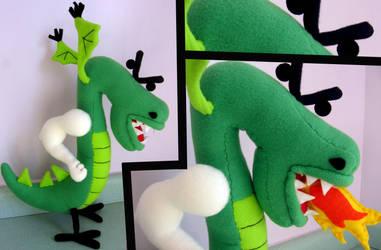 Trogdor Plushie by greenchylde