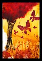 Blooming plumtree by NettoSanne