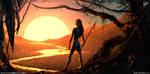 Sunset planet by Sviatoslav-SciFi