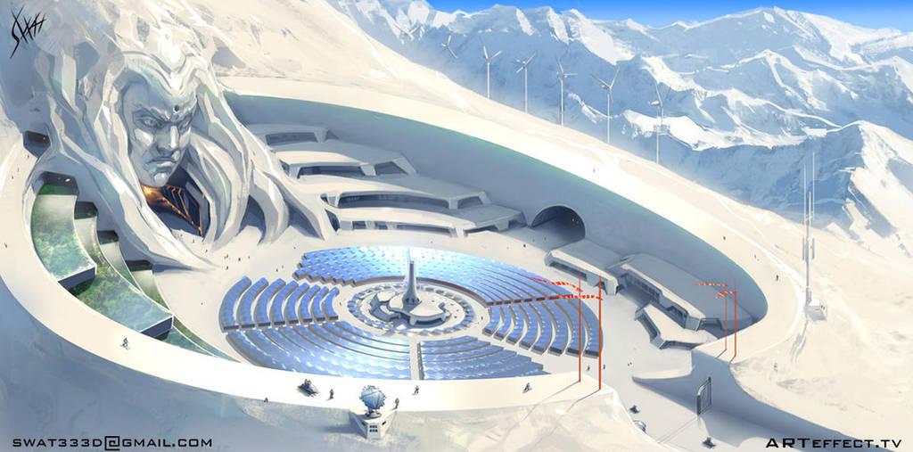 Snow planet by Sviatoslav-SciFi
