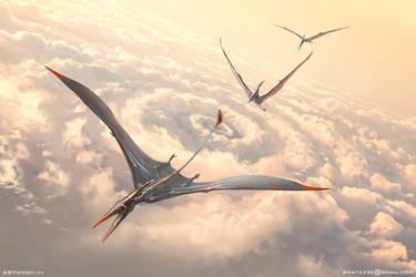 Pterodactyls by Sviatoslav-SciFi