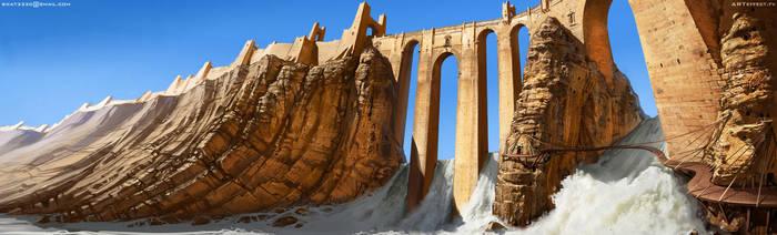 Ancient bridge by Sviatoslav-SciFi