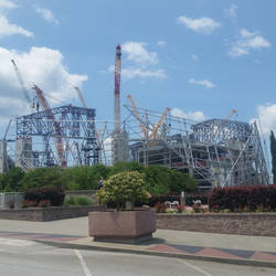 Mercedes Benz Stadium Early Stages by LaughingBudda