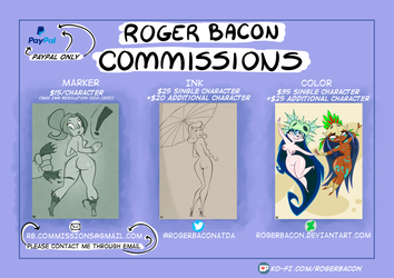 COMMISSION SHEET by Rogerbacon