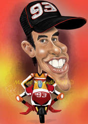 MARC MARQUEZ CARICATURE by MURIELFREEMIND